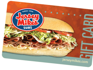 Sell Gift Cards Tempe - Jersey Mikes